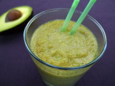 Avocado en appel smoothie