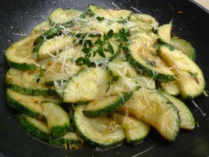 Courgette, citroen en pecorino