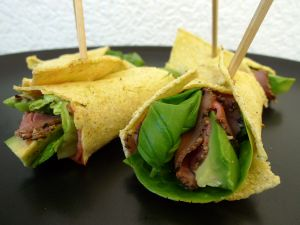 Wraps met avocado en rosbief